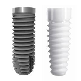Titan und Zirkon Zahnimplantate